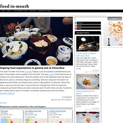 On Restaurants, Dining, Streetfood, and a truthy voice on food blogging - Food in Mouth