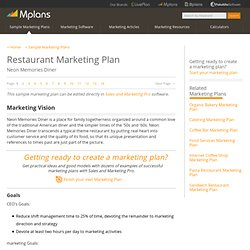 Restaurant Sample Marketing Plan - Marketing Vision