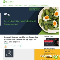 Current Restaurant Market Scenarios & Growth of Food Ordering Apps for 2021 and Beyond