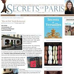 """""""Rice & Fish"""" SushiRestaurant - Secrets of Paris"""