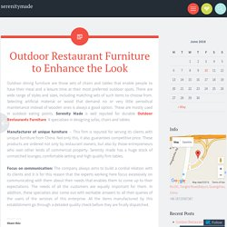 Outdoor Restaurant Furniture to Enhance the Look