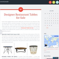 Designer Restaurant Tables for Sale