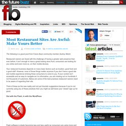 Most Restaurant Sites Are Awful: Make Yours Better