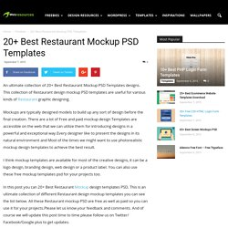 20+ Best Restaurant Mockup PSD Templates - web resources free