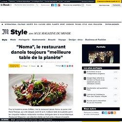 """""""Noma"""", le restaurant danois toujours """"meilleure table de la planète"""""""