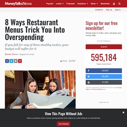 Restaurant Menu Tricks That Make You Overspend