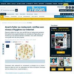 LE PARISIEN 08/07/15 Avant d'aller au restaurant, vérifiez son niveau d'hygiène sur Internet