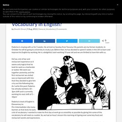 How is your Food and Restaurant Vocabulary in English?