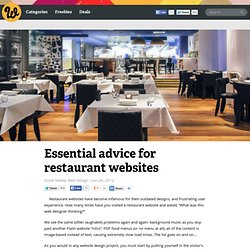 Essential advice for restaurant websites