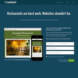 LetsEat.at | The Free Restaurant Website Builder
