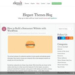 Plugins pour Restaurant Website
