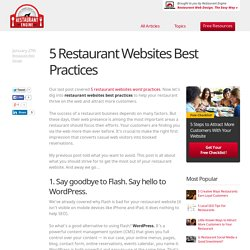 5 Restaurant Websites Best Practices - Restaurant Engine