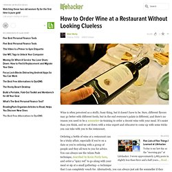 How to Order Wine at a Restaurant Without Looking Clueless