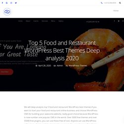 Top 5 Food and Restaurant WordPress Best Themes Deep analysis 2020 - 69Themes