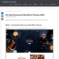 20+ Best Restaurant WordPress Themes 2016