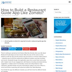 How to Build a Restaurant Guide App Like Zomato?