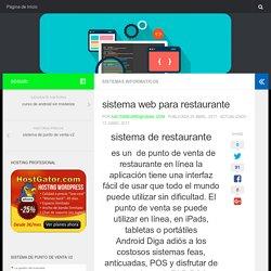 sistema web para restaurante – aplicaciones web