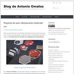 "Proyecto de aula ""Restaurante matemático"""