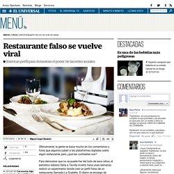 Restaurante falso se vuelve viral