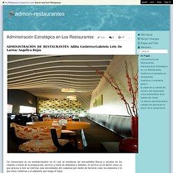admon-restaurantes - Administración Estratégica en Los Restaurantes