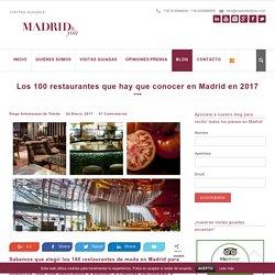 100 restaurantes de moda en Madrid para el año 2017 que hay que conocer