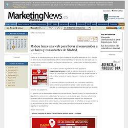 Mahou lanza una web para llevar al consumidor a los bares y restaurantes de Madrid