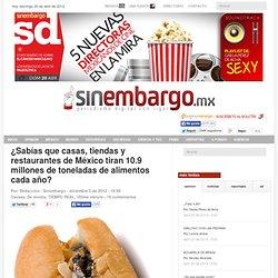 ¿Sabías que casas, tiendas y restaurantes de México tiran 10.9 millones de toneladas de alimentos cada año?