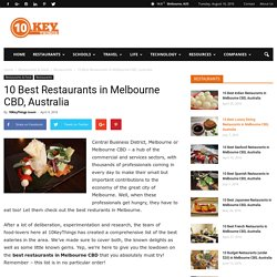 The Best Restaurants in Melbourne