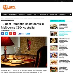 The Best Romantic Restaurants Melbourne - 10keythings