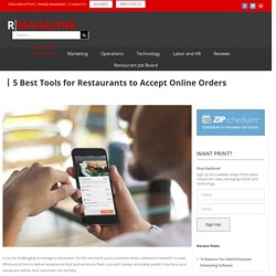 5 Best Tools for Restaurants to Accept Online Orders