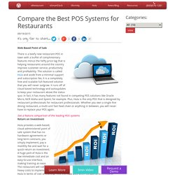 Compare the Best POS Systems for Restaurants - Altametrics
