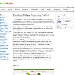 3 Templates HTML5 pour Restaurants et Fast Food - BeauxThemes