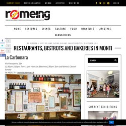 Restaurants, Bistrots and Bakeries in Monti