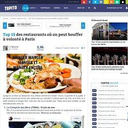 Top 15 des restaurants où on peut bouffer à volonté à Paris