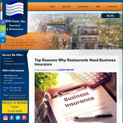Top Reasons Why Restaurants Need Business Insurance