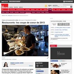 Restaurants: les coups de coeur de 2013