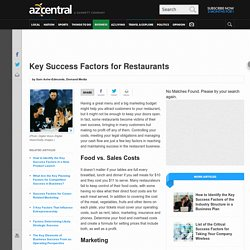 Key Success Factors for Restaurants