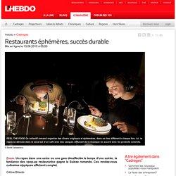 Restaurants éphémères, succès durable