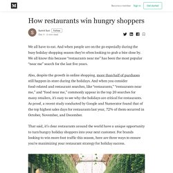 How restaurants win hungry shoppers - Sumit Suri - Medium