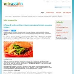 L'affichage du nombre de calories sur les menus de restaurants-minute : une mesure inefficace ?