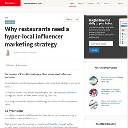 Why restaurants need a hyper-local influencer marketing strategy