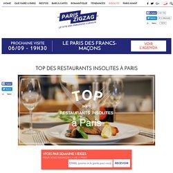 TOP des restaurants insolites à Paris