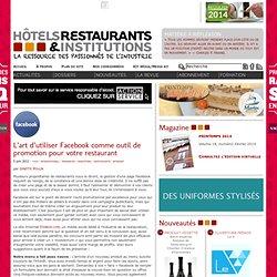 Outil de promotion pour votre restaurant