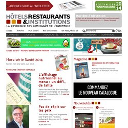 La Revue HRI : HOTELS, RESTAURANTS et INSTITUTIONS -