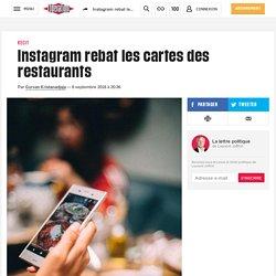Instagram rebat les cartes des restaurants - Libération