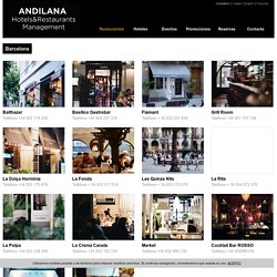 GRUPO ANDILANA / Hotels & Restaurants management