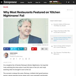 Why Most Restaurants Featured on 'Kitchen Nightmares' Fail