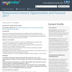 Restaurants Industry Opportunities and Forecast 2017