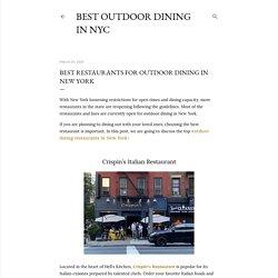 Best Restaurants For Outdoor Dining in New York