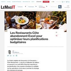 Les Restaurants Côte abandonnent Excel pour optimiser leurs planifications budgétaires